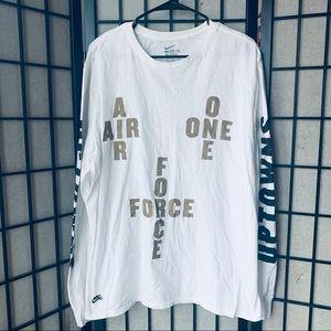 Nike Air Force one long sleeve white t-shirt sz XL